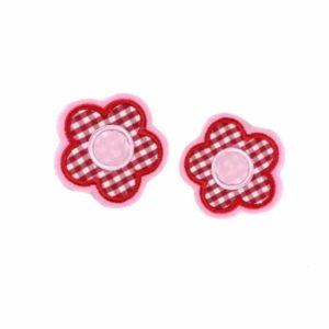Bügelbild Blumen – rot rosa– 6cm