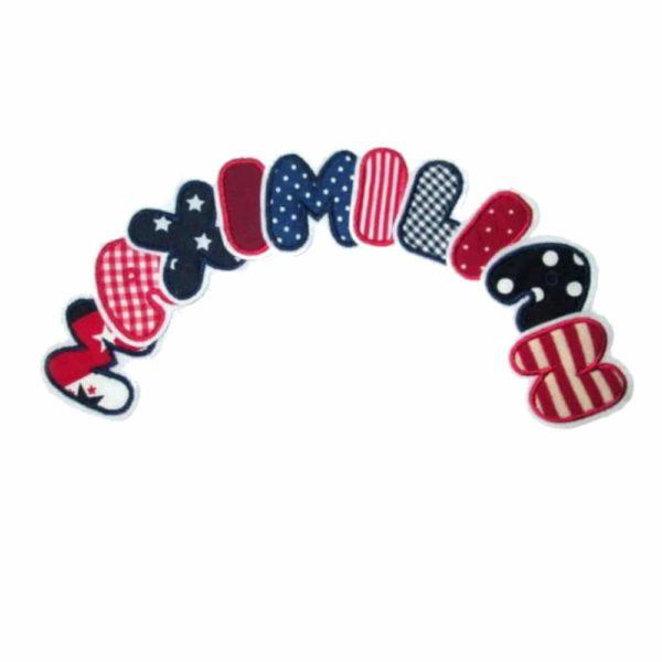 Buchstaben marineblau und rot im wechsel ca 6cm hoch