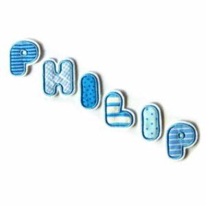 Bügelbild Einzelbuchstaben von A-Z Stoffbuchstaben – 5cm
