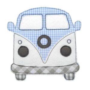 Bügelbild Kleiner Bulli – VW Bulli – 11cm hellblau