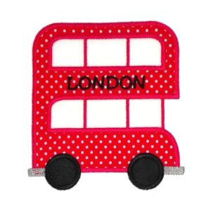 Bügelbild Doppeldecker Bus LONDON 15cm x 13cm