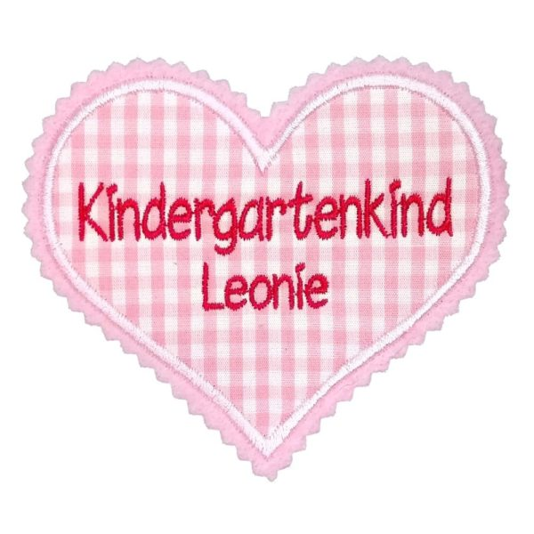 Kindergartenkind Herz mit Wunschname
