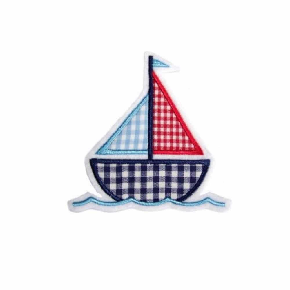 Segelboot applikation  Segelschiffchen – Boot – Aufnäher/Applikation