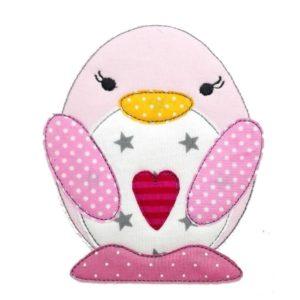 Doodle Pinguin Polli – Sweet Heart in zartrosa 16,5cm