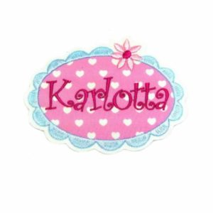 Namensschild Sweet Heart XL rosa/hellblau inkl. Wunschname