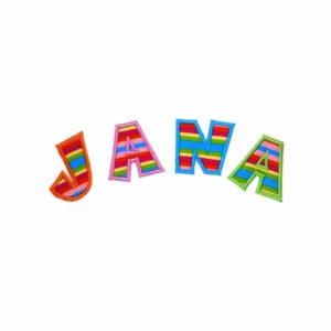 Bügelbild Stoffbuchstaben Regenbogen 4cm