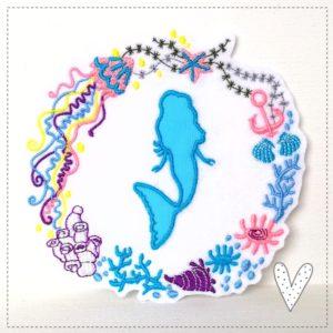 Meerjungfrau Ornament 13cm Durchmesser