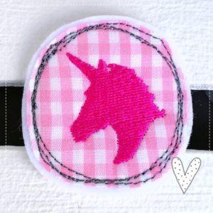 Versandfertig – Kleines Einhorn – Miniapplikation – rosa/pink – 4,5cm
