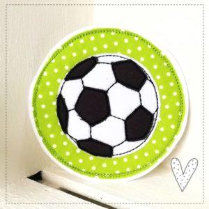 Bügelbild Fußball  – 13cm – apfelgrün