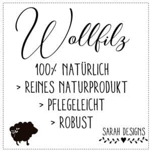 Nikolausstiefel aus Wollfilz mit Wunschnamen