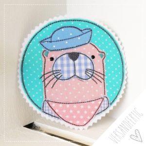 Versandfertig – Ottermädchen 11cm – rosa/mint –
