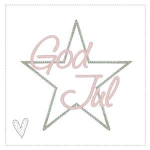 Stickdatei Sternchen God Jul 18×13