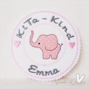 Applikation Elefant – KiTa-Kind mit Wunschnamen