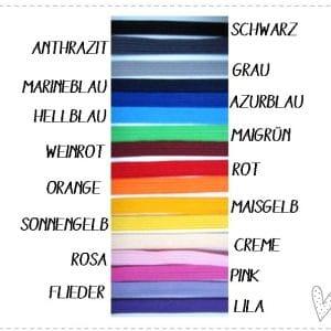 U-Hefthülle 100% Wollfilz – Regenbogen in pink mit Wunschnamen