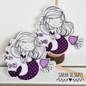 Bügelbild 2er Set Meerjungfrau – für Zwillinge