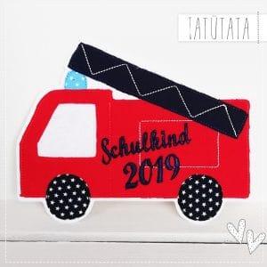 SCHULKIND 2019 – XL Feuerwehr Applikation