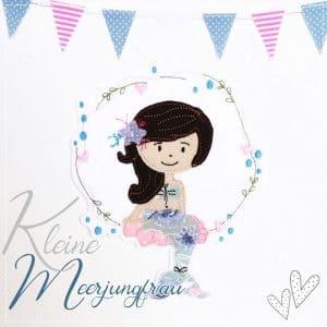 XL Meerjungfrau in hellblau/rosa – 18cm x 13cm