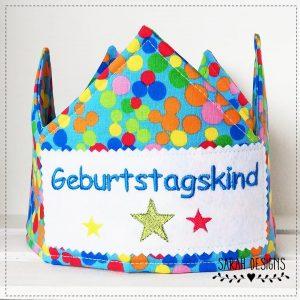 Geburtstags-Krone bunt – Geburtstagskind
