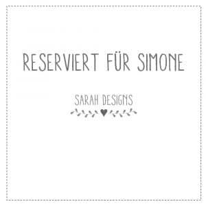 Reserviert für Simone