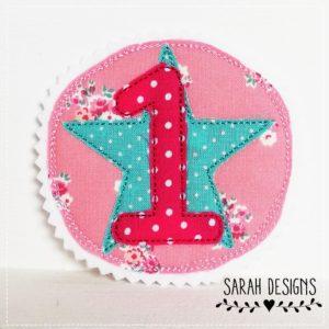 Versandfertig – Runde 1 – rosa/pink/mint – 10cm Durchmesser