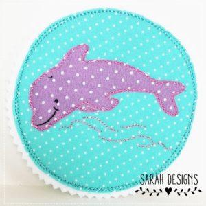Versandfertig – Delphin mint/lila – 11cm