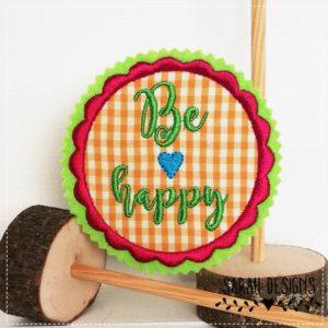 Be Happy  – orange pink –