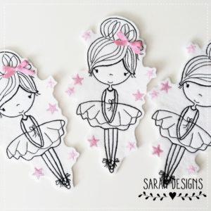 Ballerina – 18 cm in rosa – mit Schleife