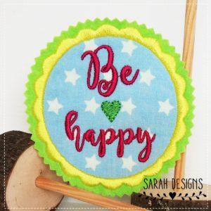 Be Happy  – gelb hellblau –