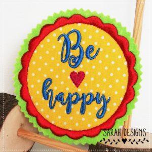Be Happy  – rot gelb –