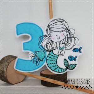 Bügelbild Meerjungfrau – mit Zahlen von 1-9