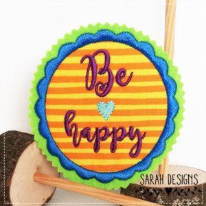 Be Happy  – orange lila blau –