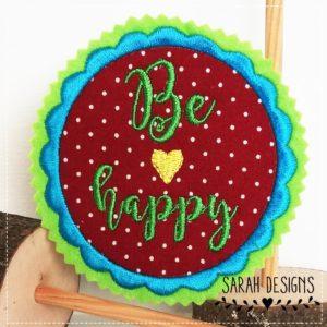 Be Happy  – rot grün –