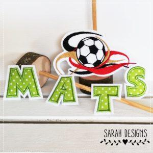 Germany Fußball Set inkl. 3 Stoffbuchstaben