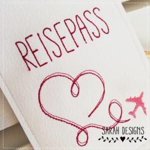 Versandfertig – Reisepasshülle –  pink/rosa