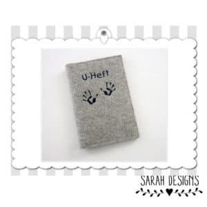 U-Hefthülle Babyhändchen aus Wollfilz