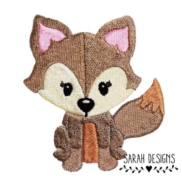 Fuchs Aufnäher Fuchsmädchen kleiner Fuchs zum aufbügeln 10x8cm groß