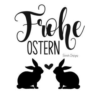 Bügelbild  – Frohe Ostern – 9,5cm x 8,5cm