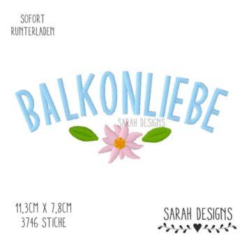 Stickdatei Balkonliebe – 18×13