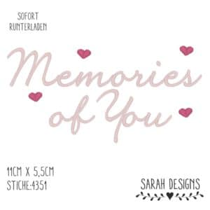Stickdatei Memories of You – 18×13