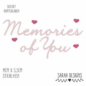 Stickdatei Memories of You – 18×13