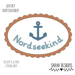 Stickdatei 18×13 – Nordseekind – Wellenrand