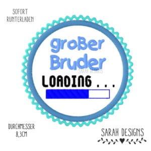 Stickdatei großer Bruder Loading – 10×10