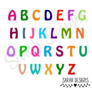 Bügelbild -Einzelbuchstaben – 5,5cm -in der Wunschfarbe