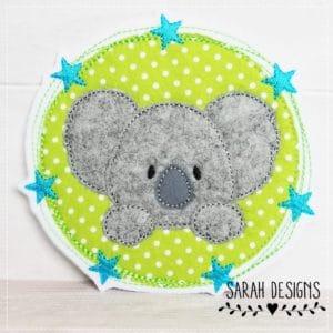 Sofortkauf Koala Sternchenbutton apfelgrün/türkis