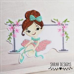 Sofortkauf – Bügelbild Ballerina rosa/mint