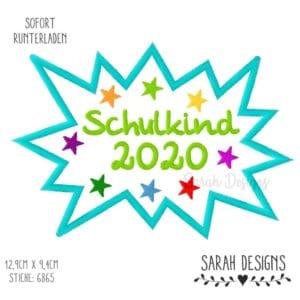 Stickdatei – Bääähm Schulkind 2020 – 18×13