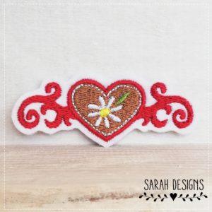 Bügelbild Sweetheart Edelweiss – 7cm