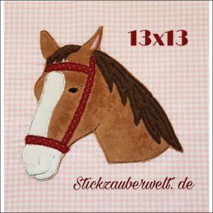 Reserviert für Nicole – Pferdekopf Stickzauberwelt