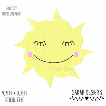 Stickdatei – freundliche Sonne 10×10