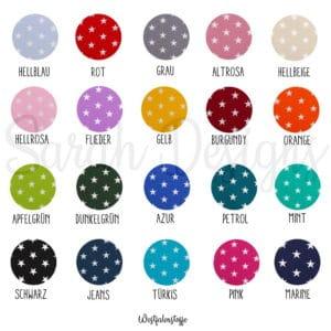 Bügelbild -Einzelbuchstaben Sterne – 8,5cm -in der Wunschfarbe